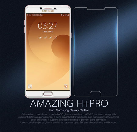 Kính cường lực Samsung C9 Pro hiệu Nillkin H+ Pro